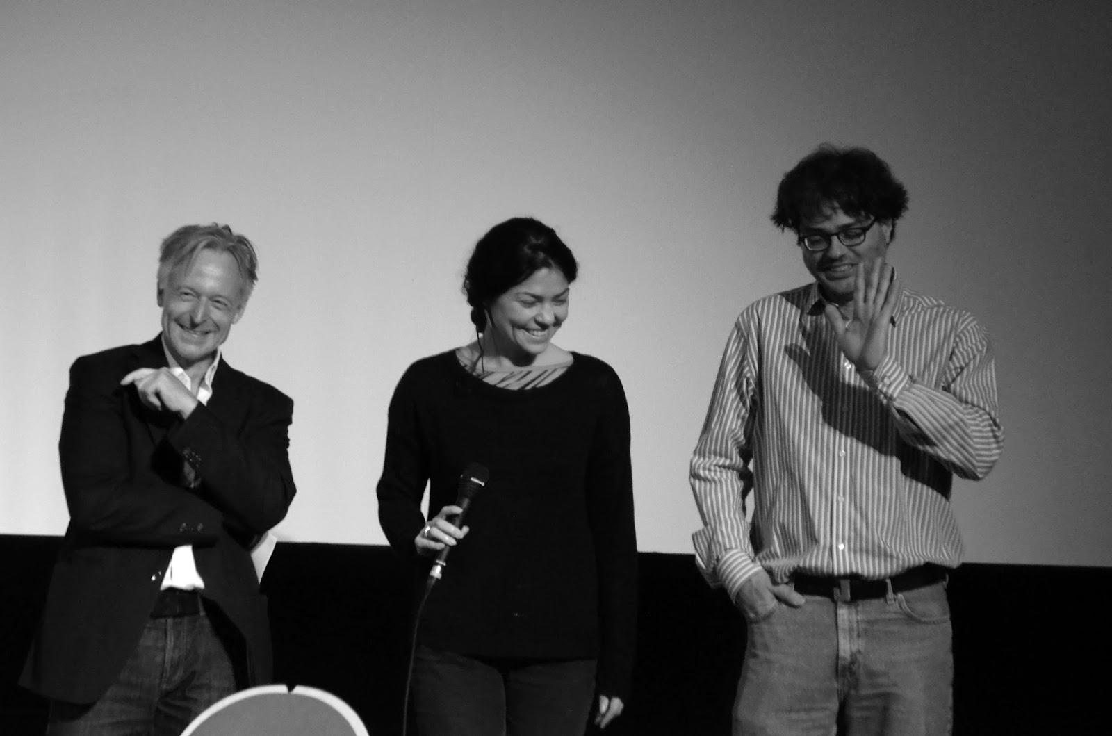 On stage: Olaf Stüber, Julieta Aranda and Ivo Wessel