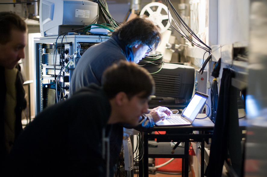 Ivo Wessel in the projection room